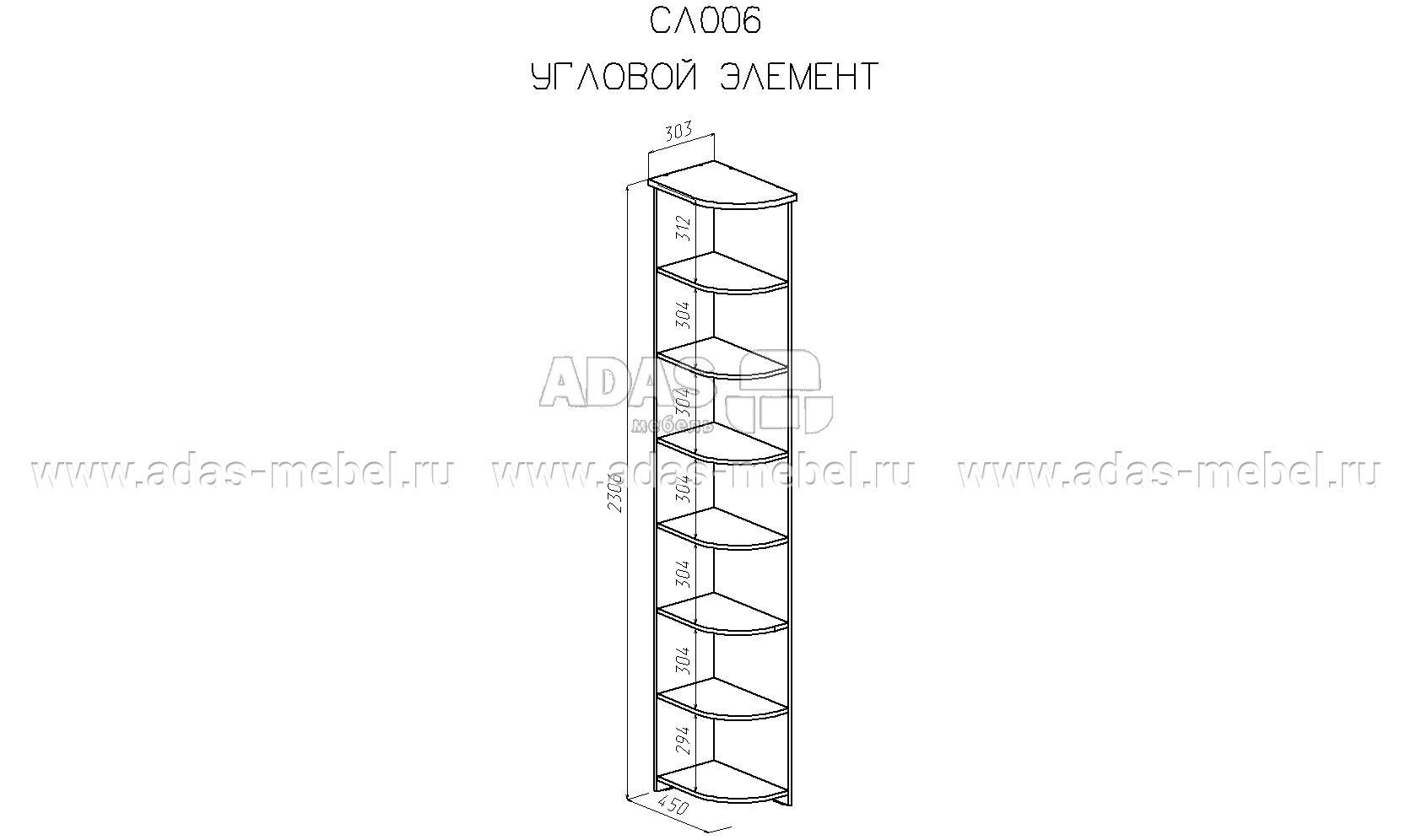 Угловой стеллаж схема